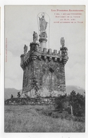 (RECTO / VERSO) AX LES THERMES - N° 7 BIS - MONUMENT DE LA VIERGE AVEC PERSONNAGES - Ed. LABOUCHE FRERES - CPA - Ax Les Thermes