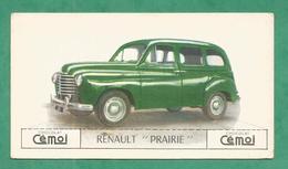 IMAGE CHOCOLAT CEMOI AUTO VOITURE VINTAGE WAGEN OLD CAR CARD RENAULT PRAIRIE - Chocolat
