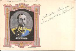 MILITARIA - RARE CARTE Brodée Soie - GEORGES V En 1915 - Characters