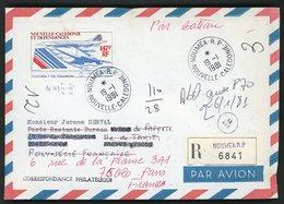 POSTE AERIENNE N°169 147Fr Concorde. Recommandé Par Avion Pour Thaiti Puis Réexpédié Par Bateau à Paris - Luftpost