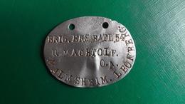Allemagne Plaque IDENTITE Erkennungsmarke BEB 54   BOIS LE PRETRE - 1914-18