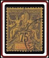 Congo Français 1892-1900 - N° 23 (YT) N° 23 (AM) Oblitéré. - Congo Français (1891-1960)