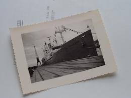 "Photo + Diner / Program S.S. "" GROOTE BEER "" Cdt J.A.J Reedijk ( Trans-Ocean Steamship Cy ) 1963 ( Voir / Zie Foto's ) ! - Bateaux"
