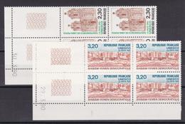 FRANCE/SERVICE  N° 102/103   BLOC DE QUATRE COIN DATE NEUF SANS CHARNIERE COTE 20   EURO - Dated Corners