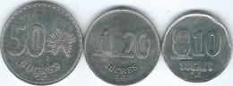 Ecuador - 1991 - 10, 20 & 50 Sucres (KM92.2, KM93.2 & KM94.2) - Ecuador