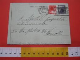PC.2 ITALIA BIGLIETTO POSTALE VIAGGIATO - 1946 4 LIRE VIOLA SENZA STEMMA A SINISTRA DA MILANO TARGHETTA T8 1947 VERCELLI - 6. 1946-.. Repubblica