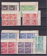 FRANCE/ N° 546/657/658/659/660/677/680/652/736   BLOC DE QUATRE COIN DATE NEUF SANS CHARNIERE COTE 12  EURO - Other