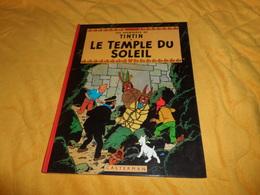 BANDE DESSINEE LES AVENTURES DE TINTIN. - LE TEMPLE DU SOLEIL...EDITION 1983..CASTERMAN.. - Tintin