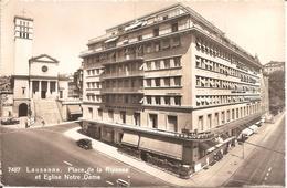 LAUSANNE (Vaud-VD) Place De La Riponne Et Eglise Notre Dame En 1962  CPSM  PF - VD Vaud