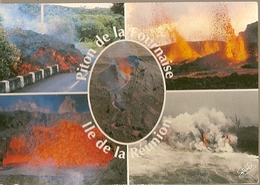 Reunion & Circulated, Piton De La Fournaise, Volcan, St. Denis Messagerie Chaniers 1992 (2513) - Reunion
