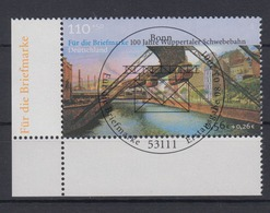 Bund 2171 Eckrand Links Unten Wuppertaler Schwebebahn 110 Pf/0,56 Euro ESST Bonn - BRD