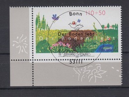 Bund 2116 Eckrand Links Unten Nartuschutz Der Boden Lebt 110 + 50 Pf ESST Bonn - BRD