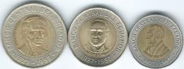 Ecuador - 1997 - 70th Anniversary Of Central Bank - 100, 500 & 1000 Sucres (KMs 101-103) - Ecuador