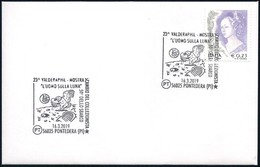 Italia Italy (2019) Special Postmark: Pontedera - 50th Anniversary Moon Landing (as Scan) - Autres