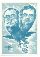 CPSM Satire Politique Fête De L'amitié Syndicat Force Ouvrière F O Illustrateur Chop  - Octobre 1988 - Aigle à 2 Têtes - Gewerkschaften