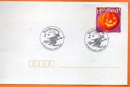 MAURY N° 3407  HALLOWEEN 62 BOULOGNE SUR MER   Lettre Entière 110x220 N° HH 54 - Marcophilie (Lettres)