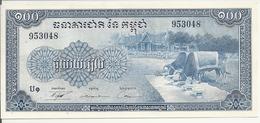 CAMBODGE 100 RIELS ND1972 UNC P 13 B - Cambodia