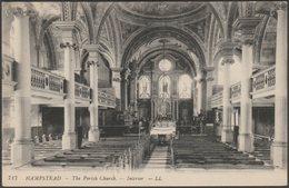 The Parish Church, Interior, Hampstead, C.1910 - Lévy Postcard LL717 - London Suburbs
