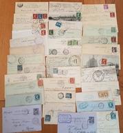 France - Lot De Cachets De Gares - DEPART  1 EURO - 35 Piéces Avec De Bons Indices - Poststempel (Briefe)