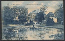 Carte Postale - 10. Tirlemont : Le Théatre Et Le Lac Du Parc / Voyagée. - Tienen