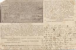 Pionniere Timbrée En 1901 Type Sage  Ajaccio Vers Larodde 63 Bapteme Napoleon Bonaparte Decoupe Aléatoire Et Coins - Ajaccio