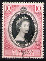 JOHORE 1953 - Set Used - Johore