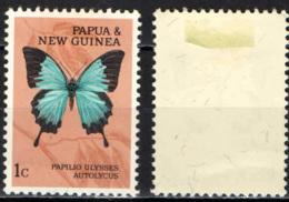 PAPUA NUOVA GUINEA - 1966 - PAPILLO ULYSSES AUTOLYCUS - MH - Papua Nuova Guinea
