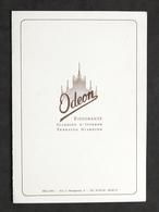 Collezionismo - Menu Ristorante Odeon Milano - 1958 - Menu