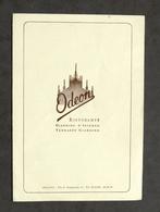 Collezionismo - Menu Ristorante Odeon Milano - 1961 - Menu