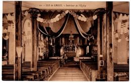 56 ILE DE GROIX - Interieur De L'église Un Jour De Procession - Tres Rare - Cpa Morbihan - Groix