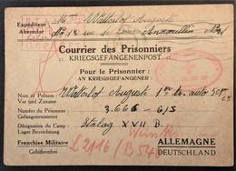 CP Privée Prisonnier De Guerre STALAG XVII B Cachet Croix-Rouge UNION DES FEMMES DE FRANCE LENS De Annoeullin Sept 1940 - Marcophilie (Lettres)