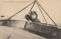 L'aviateur B. Rolane, Chef Pilote Sur Monoplan Nieuport - Aviateurs