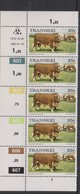 South Africa-Transkei SG R13 1976 Scenes 25c Cattle,Strip 5 Reprint Dated 1982, Mint Never Hinged - Transkei