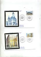 Lettre Fdc 1990 Strasbourg Europa - FDC
