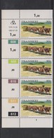 South Africa-Transkei SG R14a 1976 Scenes 30c Sledge Transportation,Strip 5 Reprint Dated 1981, Mint Never Hinged - Transkei