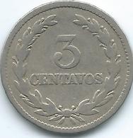 El Salvador - 1915 - 3 Centavos - KM128 - El Salvador