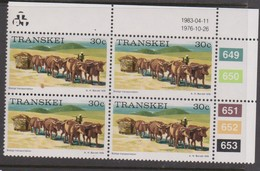 South Africa-Transkei SG R14a 1983 Scenes 30c Sledge Transportation,block 4 Reprint, Mint Never Hinged - Transkei