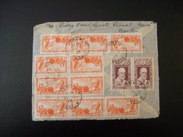 Indochine - Recto D'enveloppe Avec 12 Timbres - Lettres & Documents