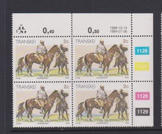 South Africa-Transkei SG R139 1988 Xhosa Culture 2c Horseman,block 4 Reprint, Mint Never Hinged - Transkei