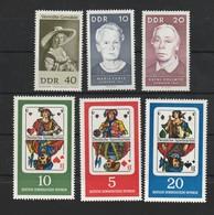 DDR 1967 Michel Nr. 1290 **, 1294 **, 1295 **, 1298-1300 **, Alle Postfrisch, U.a. Deutsche Spielkarten - Ungebraucht