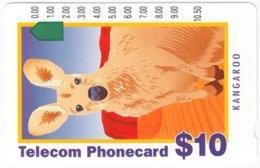AUSTRALIA B-508 Optical Telecom - Painting, Animal, Kangaroo - Used - Australien