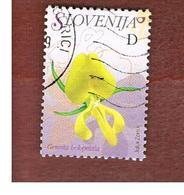 SLOVENIA - MI 619  -  2007  FLOWERS: GENISTA HOLOPETALA   -   USED - Slovenia