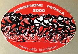 PORDENONE PEDALA 2000   ... TORNA ALLA BICICLETTA -  Sticker // - Adesivi