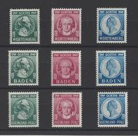 ALLEMAGNE. OCCUPATION FRANCAISE YT  Bicentenaire De La Naissance De  Goethe   Neuf ** 1949 - Franse Zone