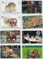 Monde - Télécarte - Lot De 38 Télécartes Dans Des Supports Transparants - Théme Faune, Flore, Nature - Phonecards