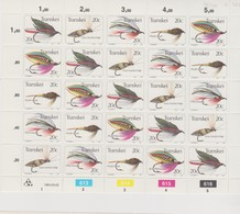 South Africa-Transkei SG S116-120 1983 Fishing Flies 4rd Series Sheetlet, Mint Never Hinged - Transkei