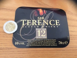 Etiquette «SCOTCH WHISKY - SIR TERENCE - Fine Old 12 Years Old» - Whisky