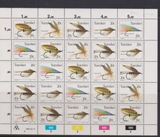 South Africa-Transkei SG S133-137 1984 Fishing Flies 5th Series Sheetlet, Mint Never Hinged - Transkei