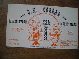 USA 1970's  Kansas Keokuk Chiefs QSL Club OK Corral - CB