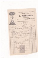 55-E.Wintgens....Arquebusier...Fabrique D'Armes De Luxe Bar-le-Duc   (Meuse) 1889 - Petits Métiers